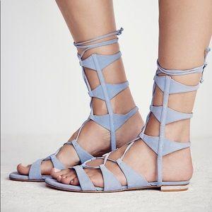 Schutz x Free People Lina Lavender Lilac Sandals